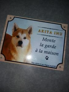 Akita inu plaque chien personnalisee photo