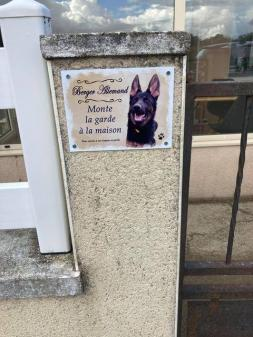 Plaque berger allemand personnalisee