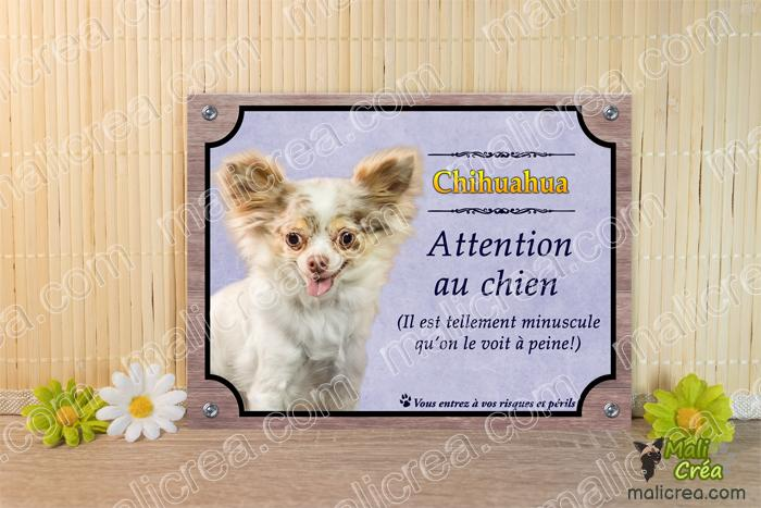 Plaque chien chihuahua drole