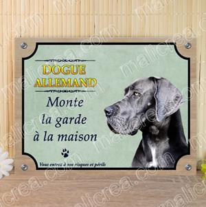 Plaque dogue allemand