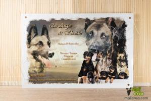 Plaque personnalisee affiche elevage canin malinois rottweiler