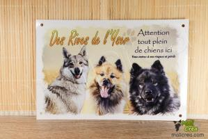 Plaque personnalisee affiche elevage canin